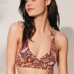 Out From Under Printed Halter Bikini Top
